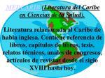 medcarib literatura del caribe en ciencias de la salud
