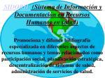 sidorh sistema de informaci n y documentaci n en recursos humanos en salud