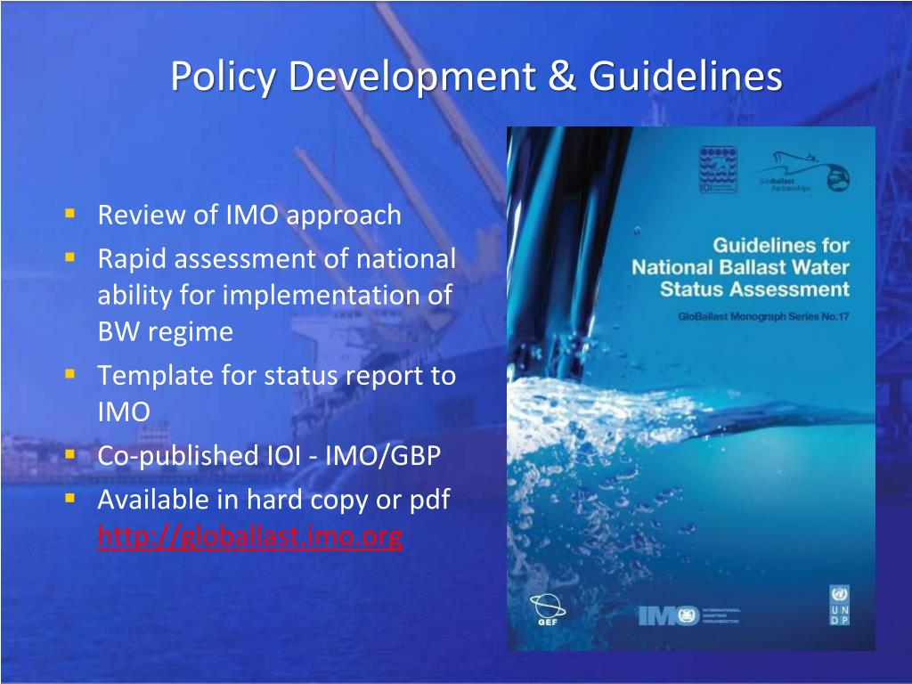 Policy Development & Guidelines