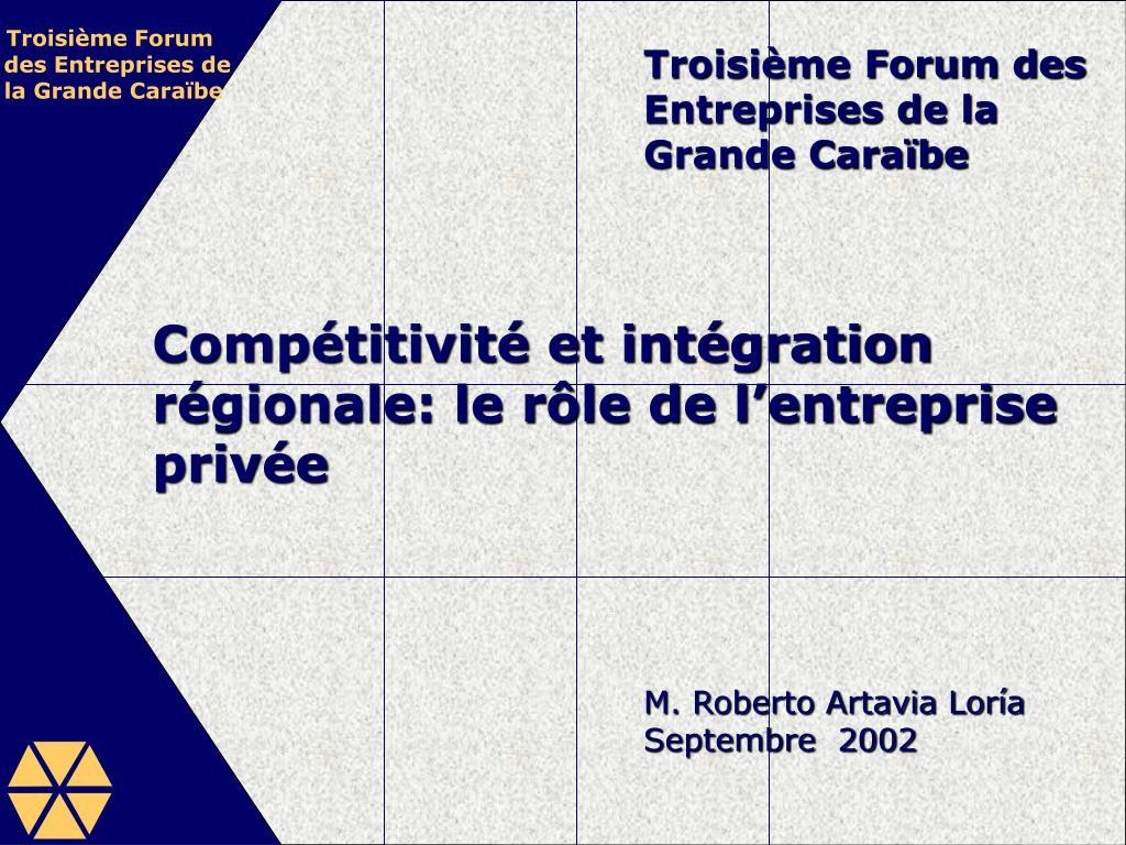 Troisième Forum