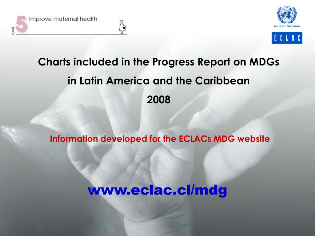 Charts included in the Progress Report on MDGs