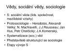 v dy soci ln v dy sociologie