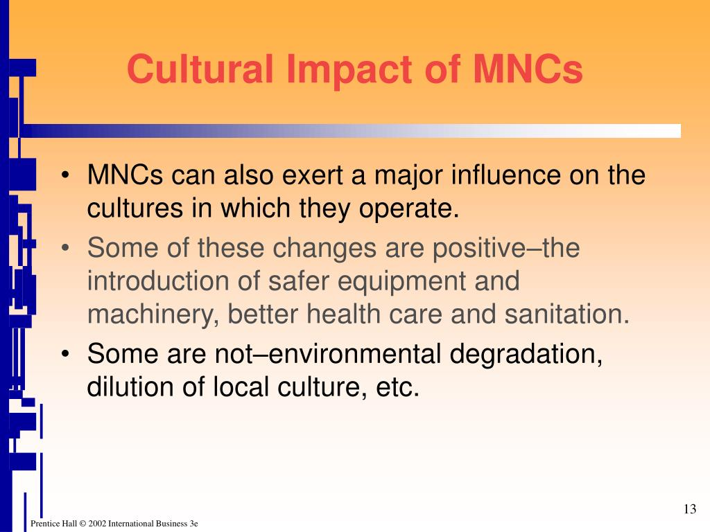 Cultural Impact of MNCs