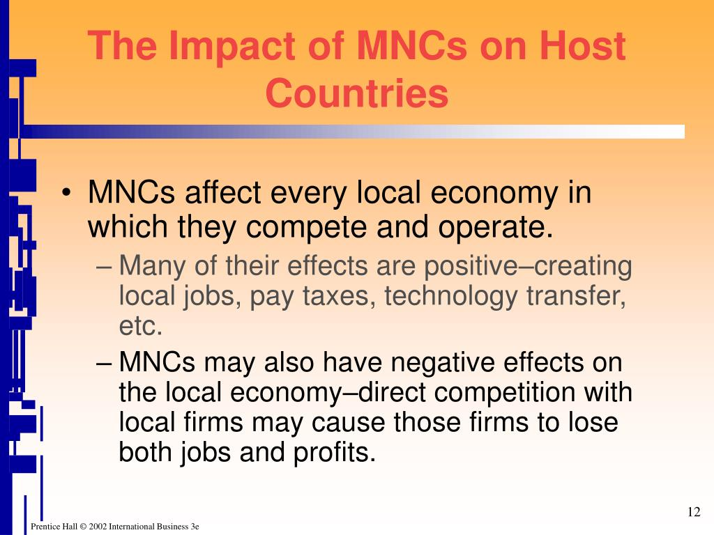 The Impact of MNCs on Host Countries