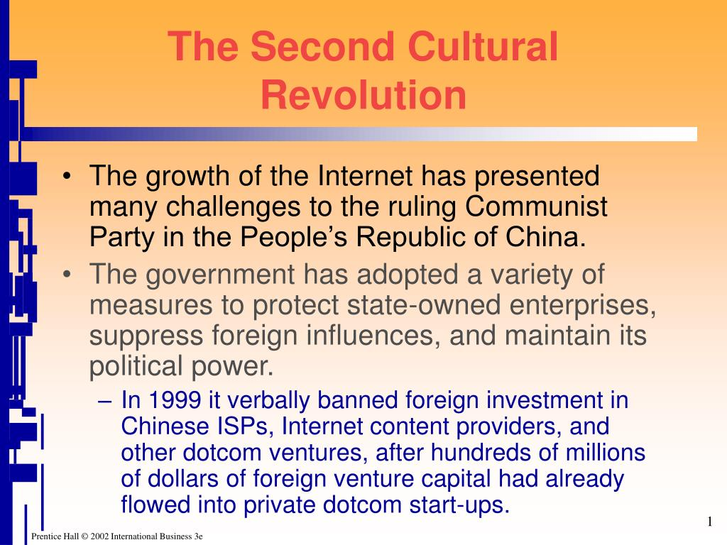 The Second Cultural Revolution