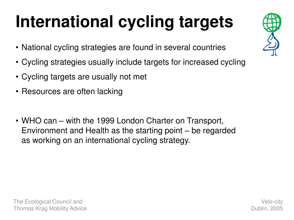 International cycling targets