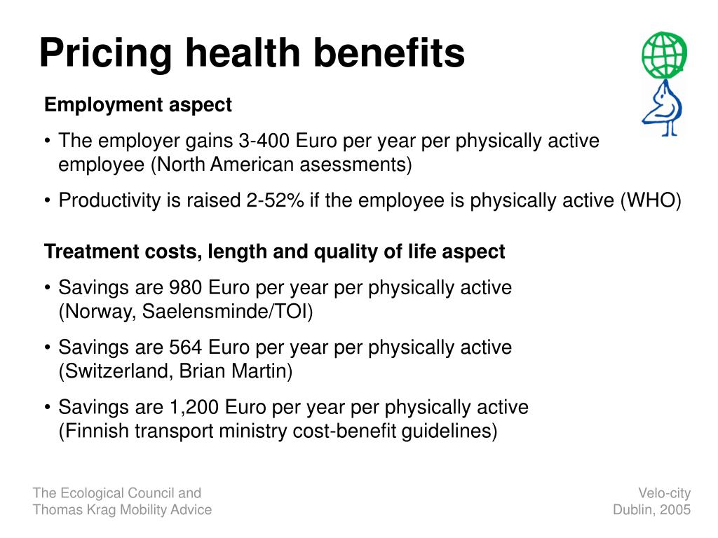 Pricing health benefits