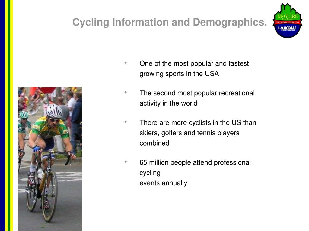 Cycling Information and Demographics.