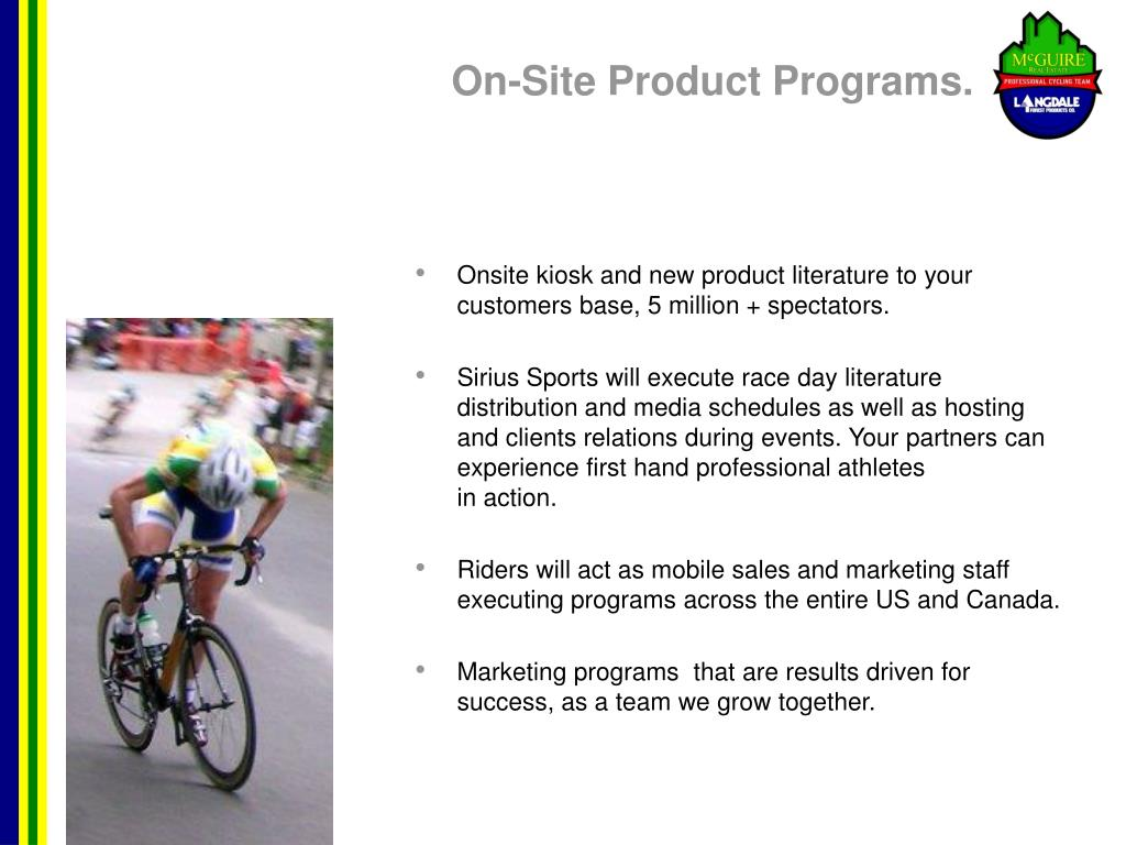 On-Site Product Programs.