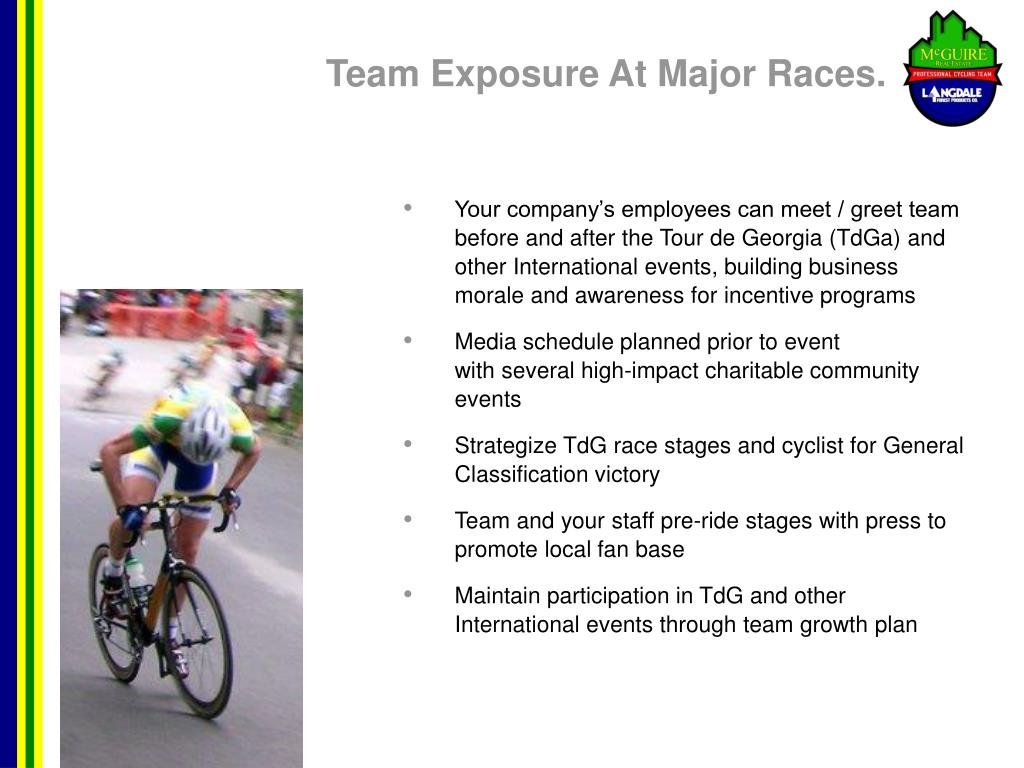 Team Exposure At Major Races.
