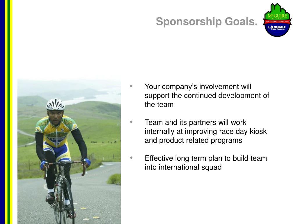 Sponsorship Goals.
