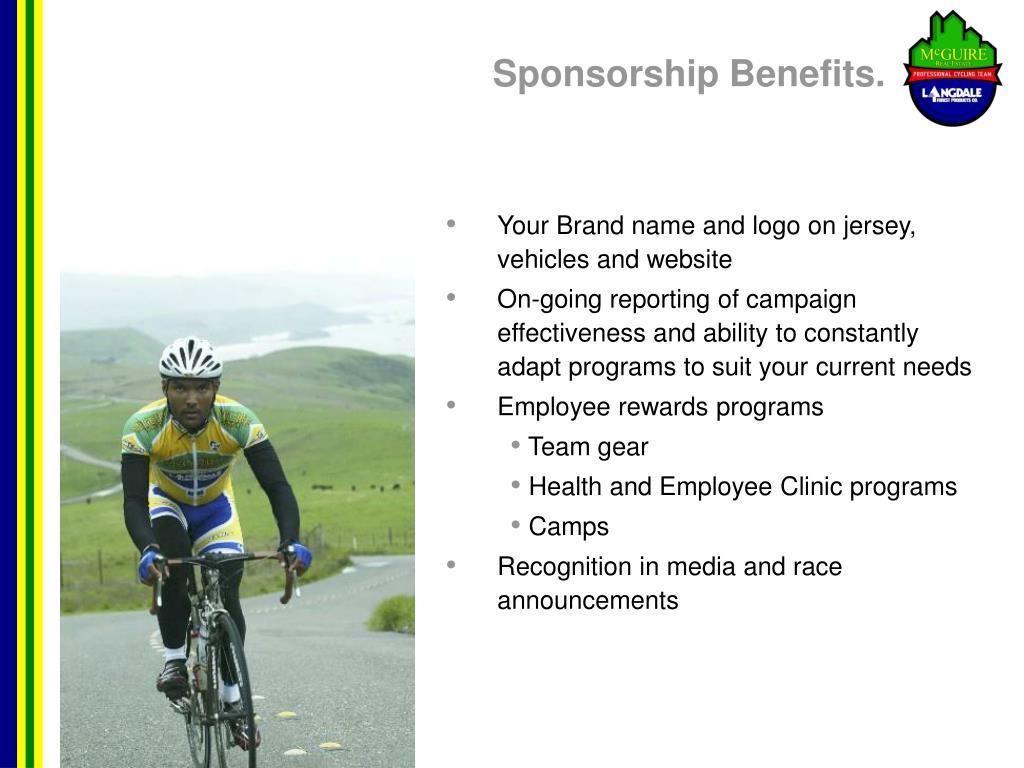 Sponsorship Benefits.