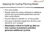 applying the cycling planning model