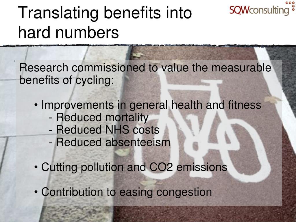 Translating benefits into