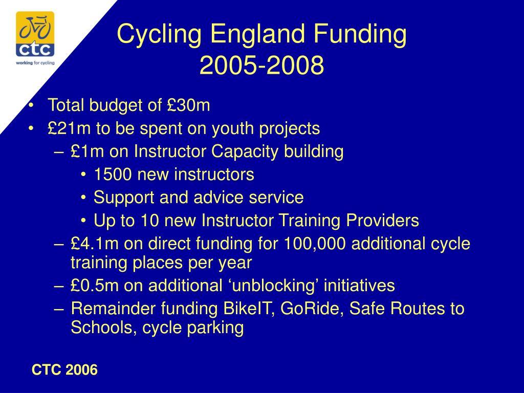 Cycling England Funding
