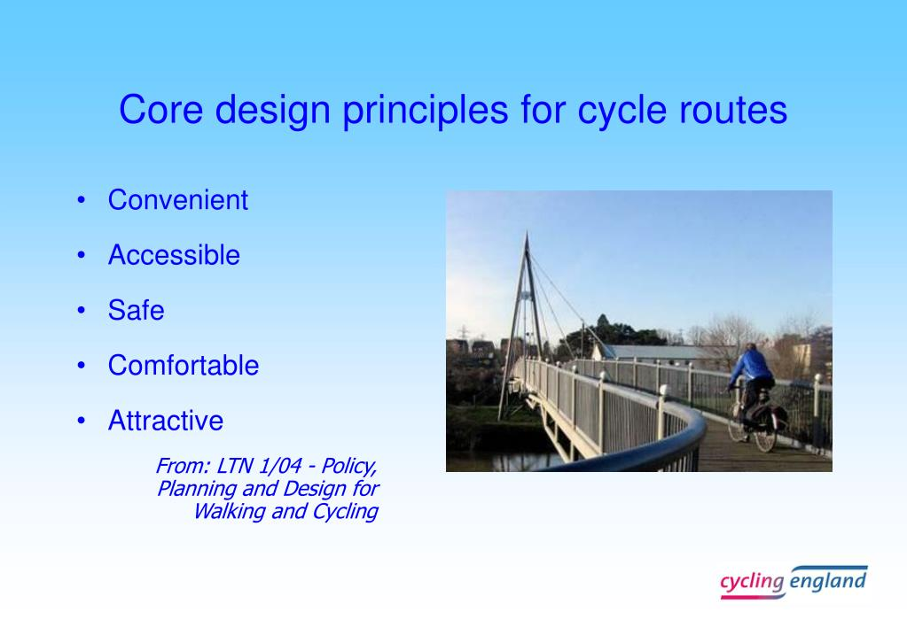Core design principles for cycle routes