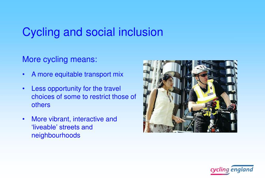 Cycling and social inclusion