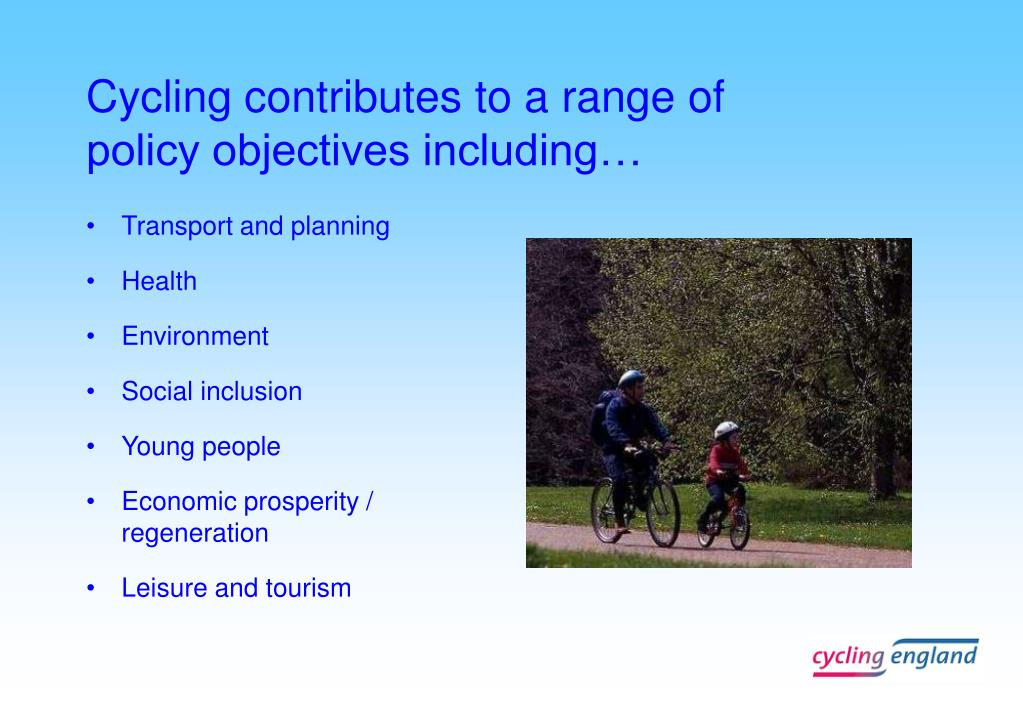 Cycling contributes to a range of