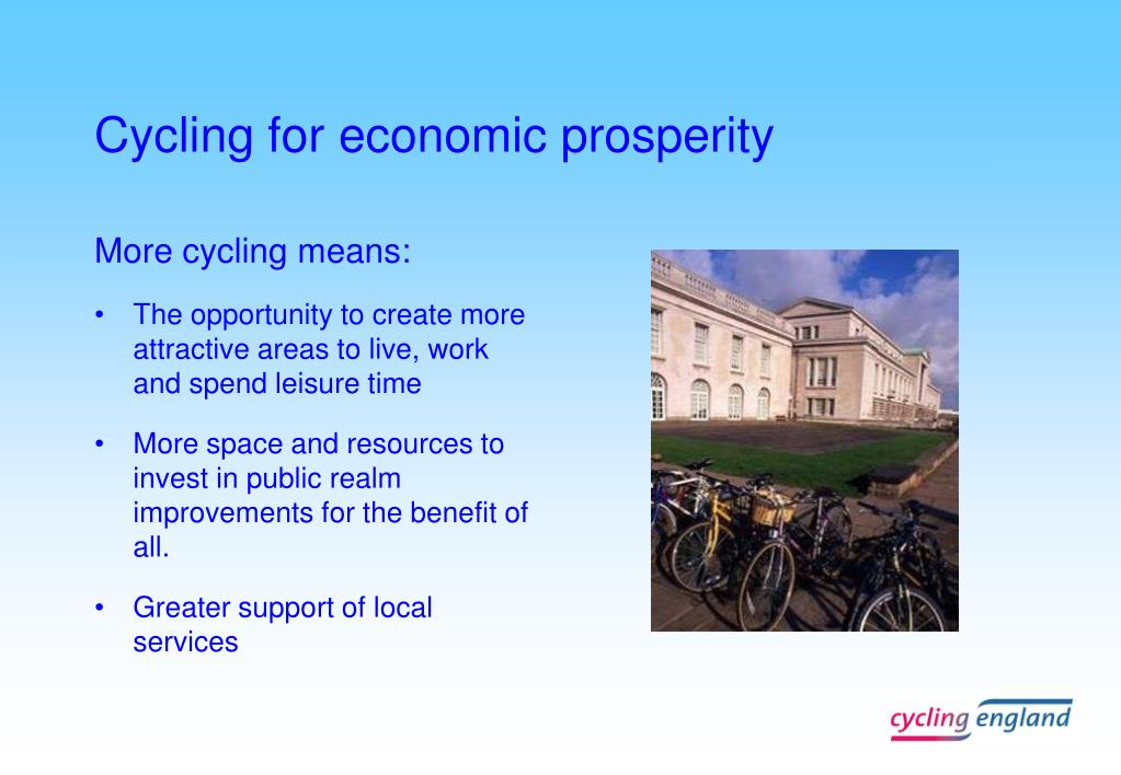 Cycling for economic prosperity
