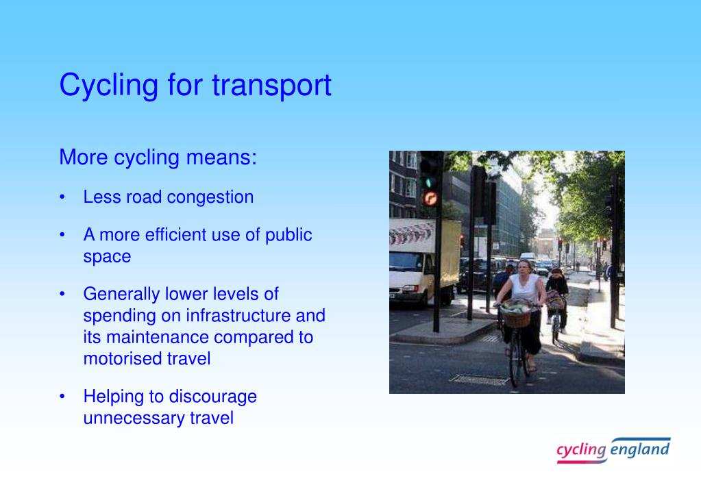Cycling for transport