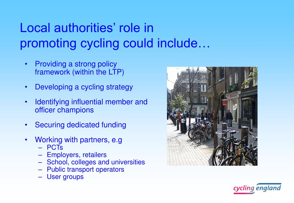 Local authorities' role in