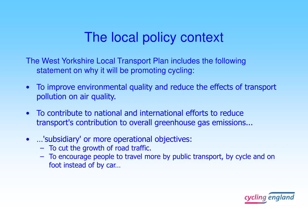 The local policy context