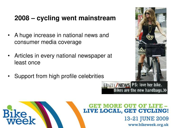2008 cycling went mainstream