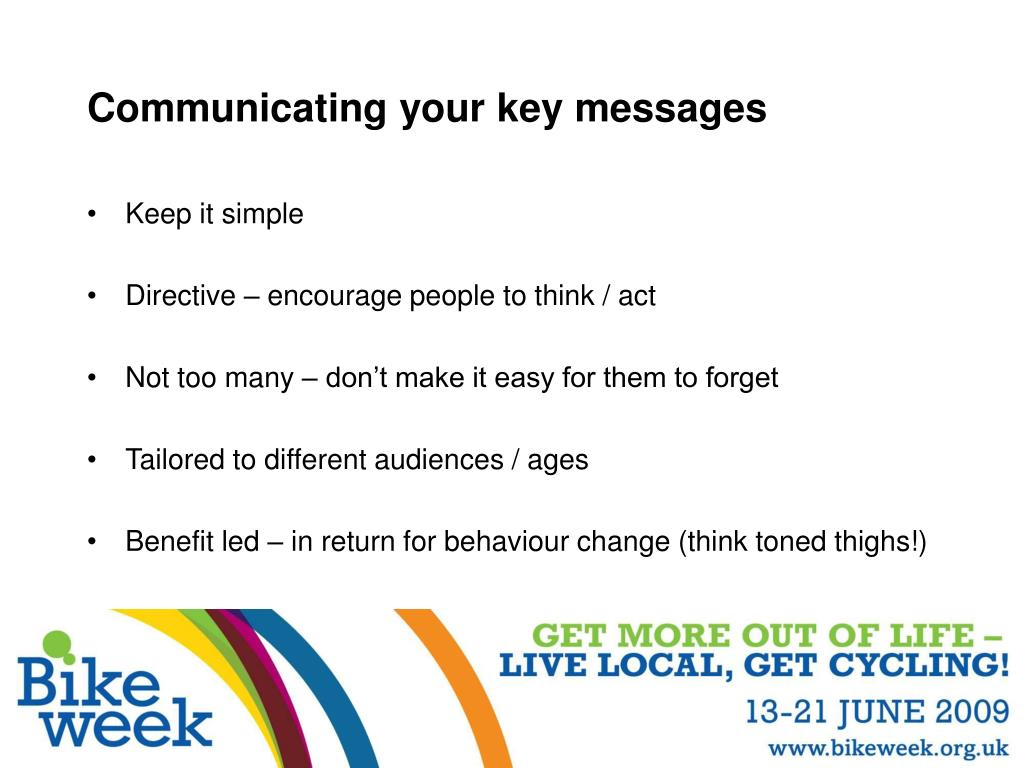 Communicating your key messages