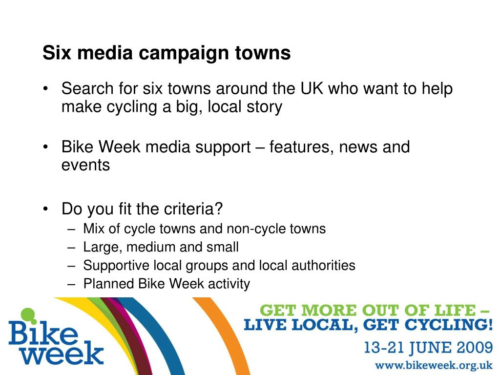 Six media campaign towns