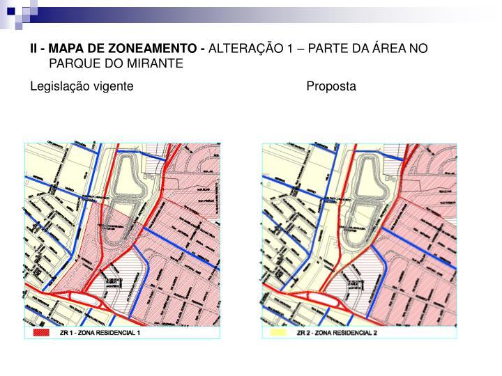 II - MAPA DE ZONEAMENTO -