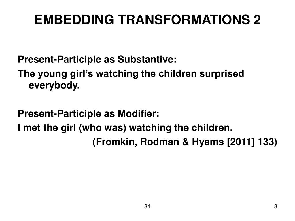 EMBEDDING TRANSFORMATIONS 2