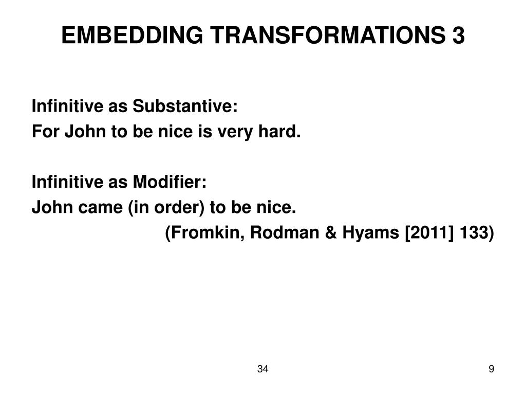 EMBEDDING TRANSFORMATIONS 3