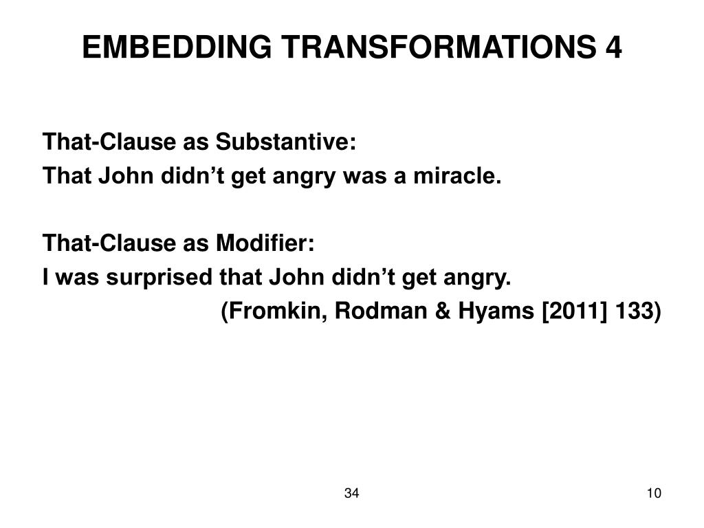 EMBEDDING TRANSFORMATIONS 4