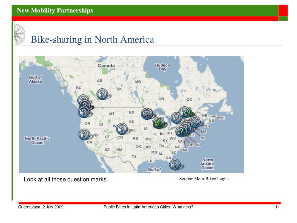 Bike-sharing in North America