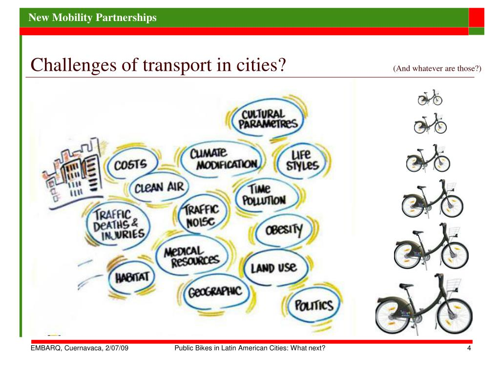 Challenges of transport in cities?