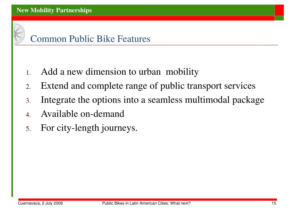 Common Public Bike Features