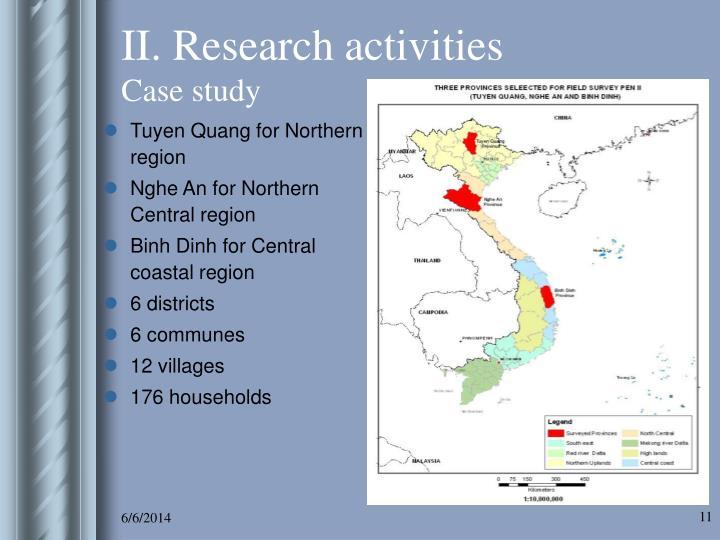 II. Research activities