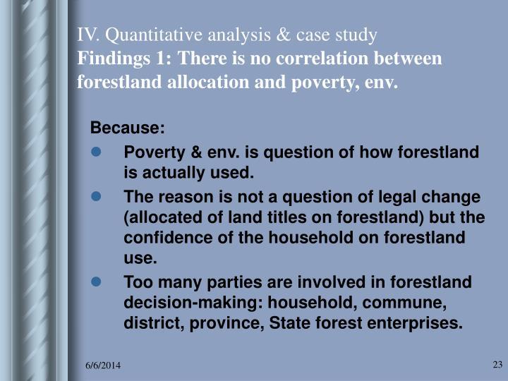 IV. Quantitative analysis & case study