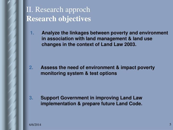 II. Research approch