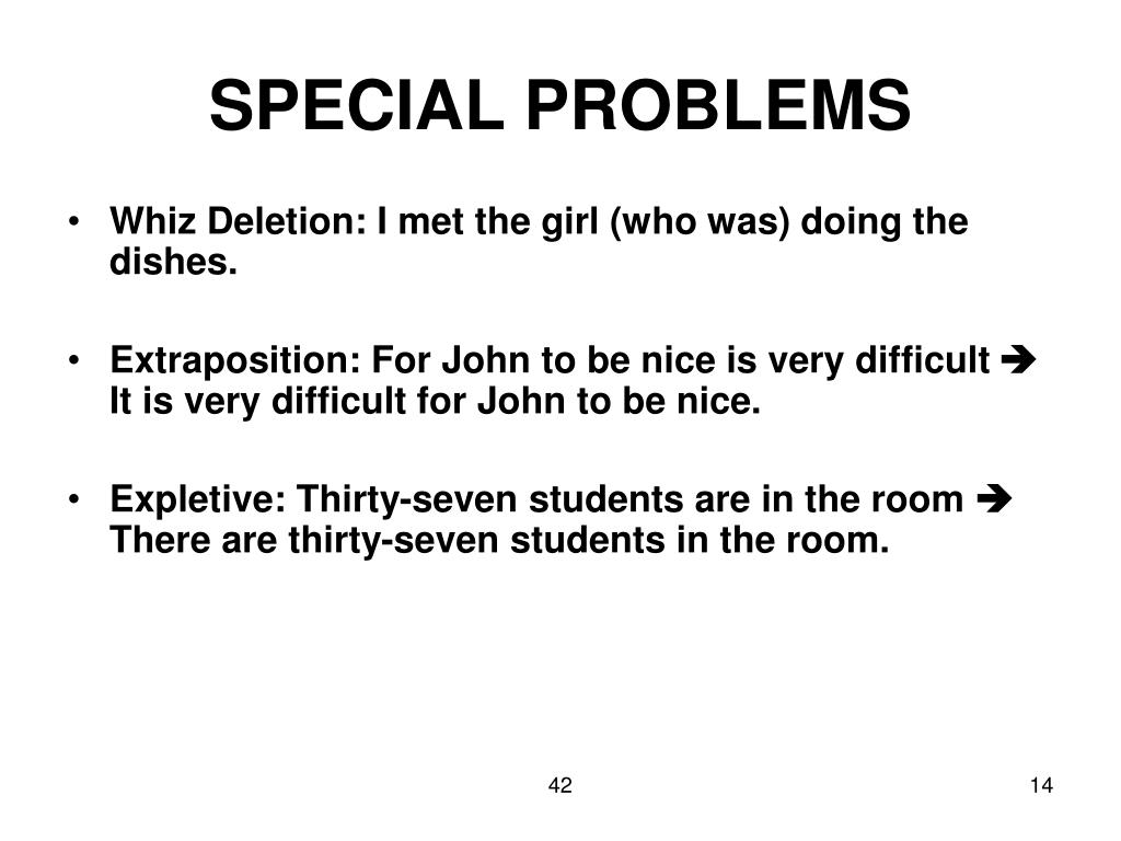 SPECIAL PROBLEMS
