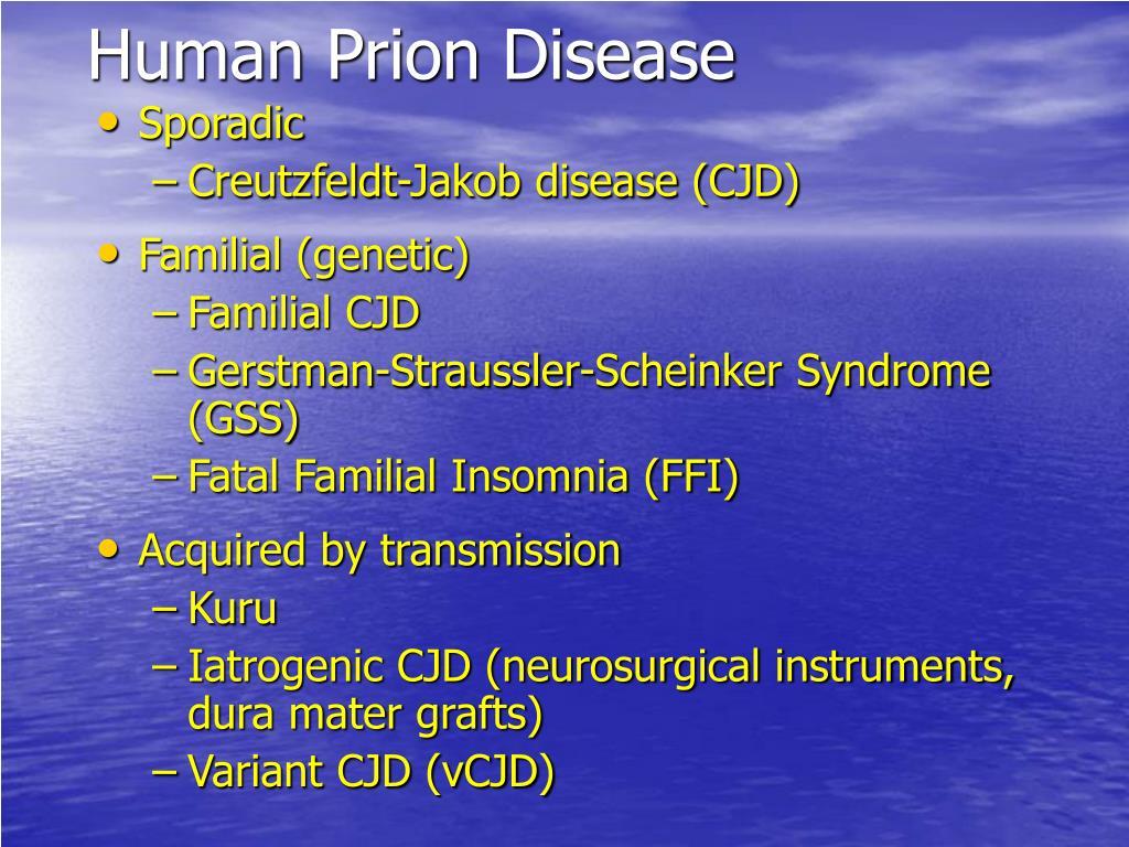 Human Prion Disease