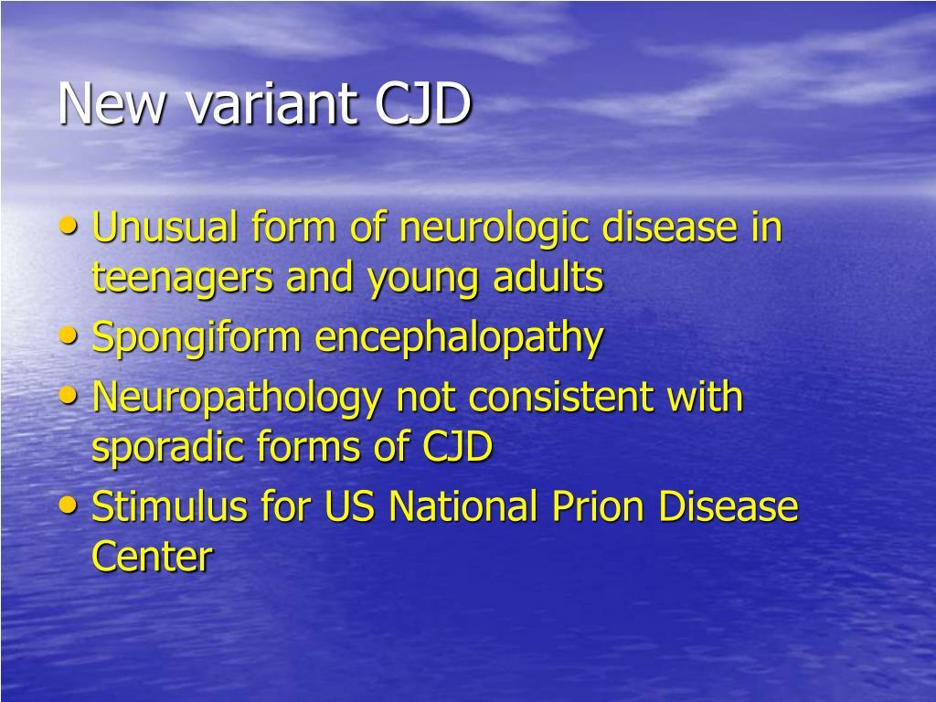 New variant CJD