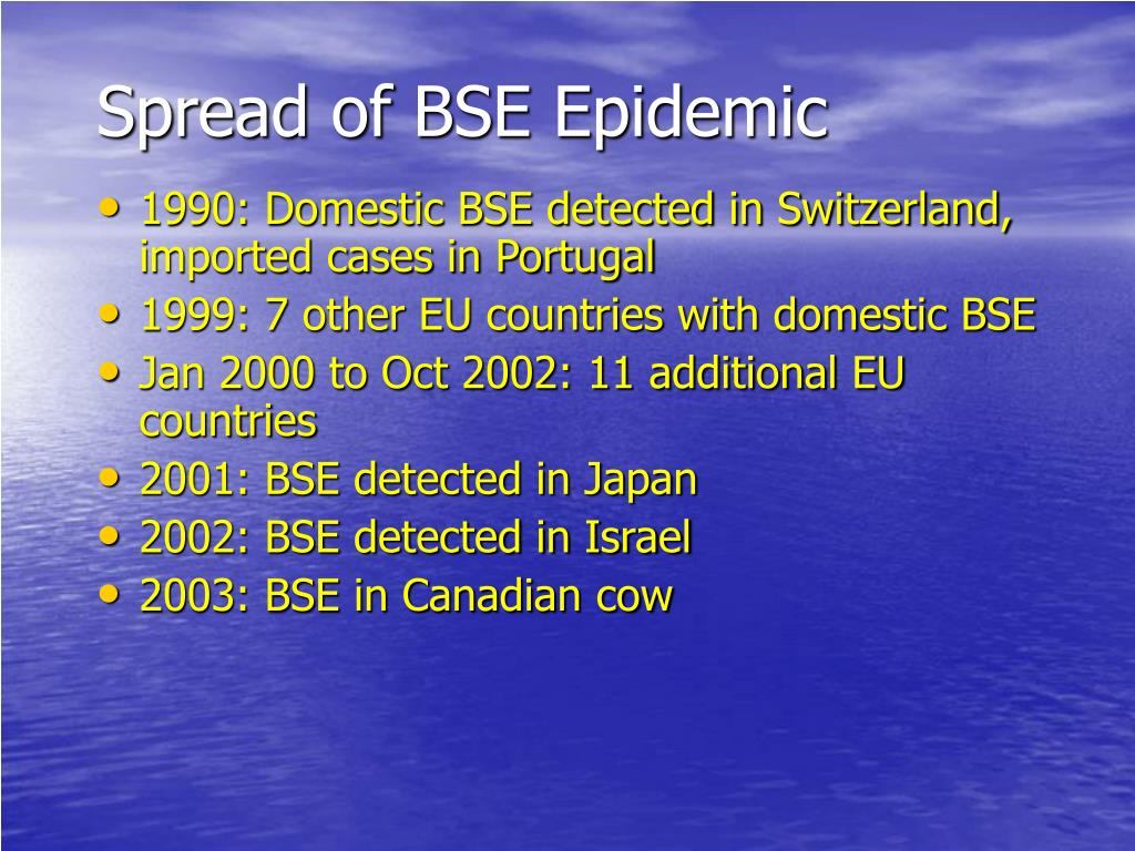 Spread of BSE Epidemic