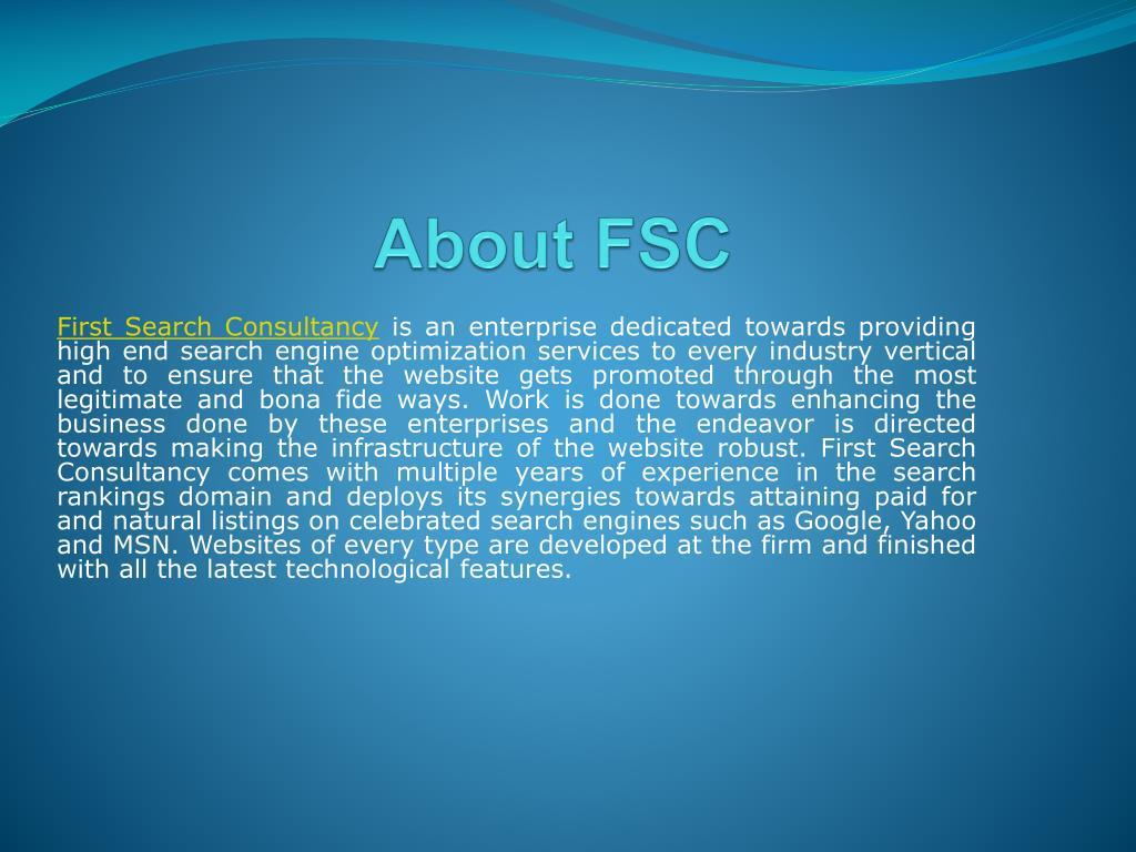 About FSC