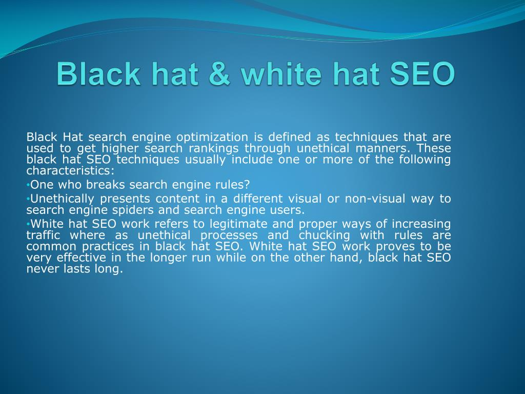 Black hat & white hat SEO
