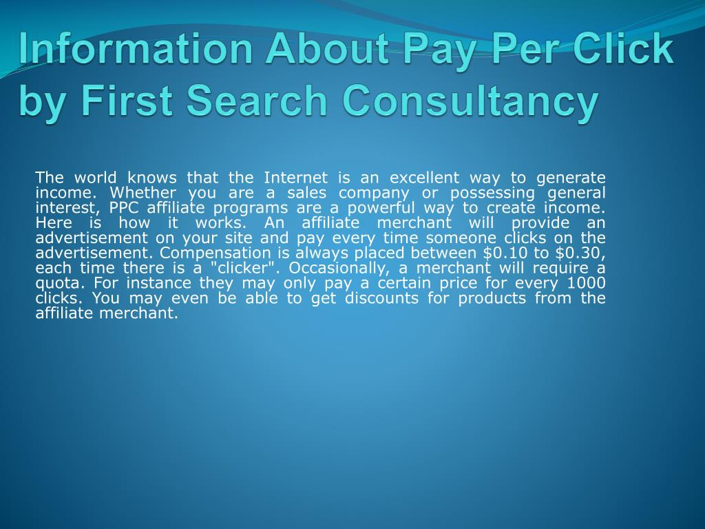 Information About Pay Per Click