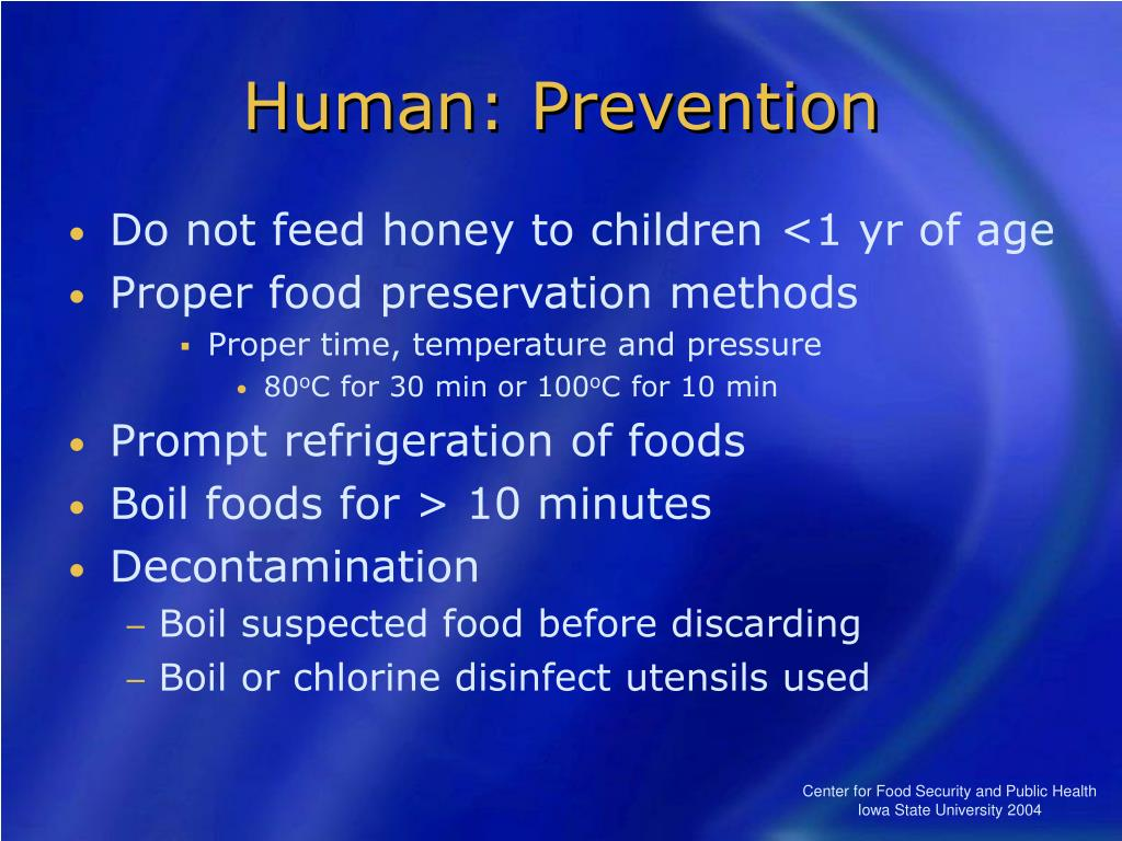 Human: Prevention