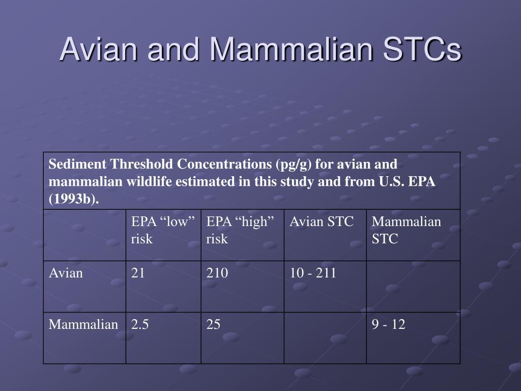 Avian and Mammalian STCs