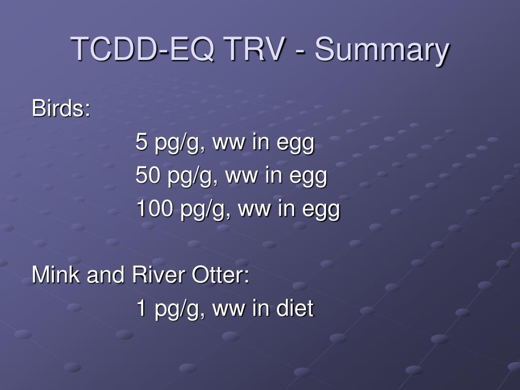 TCDD-EQ TRV - Summary