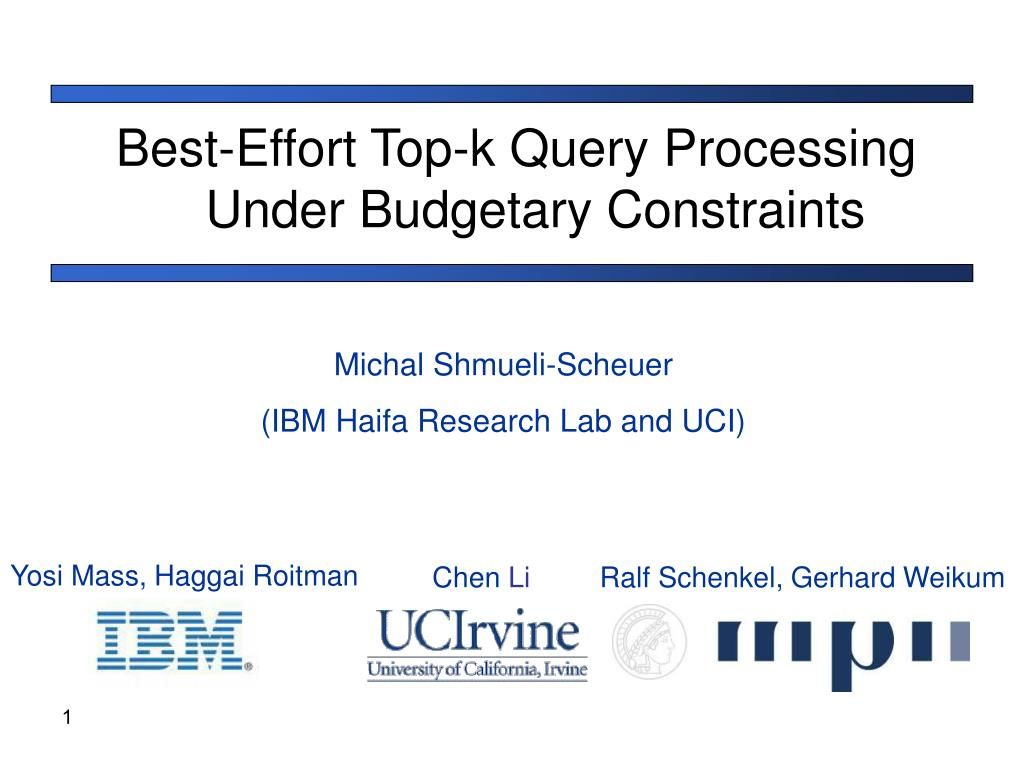 Best-Effort Top-k Query Processing Under Budgetary Constraints